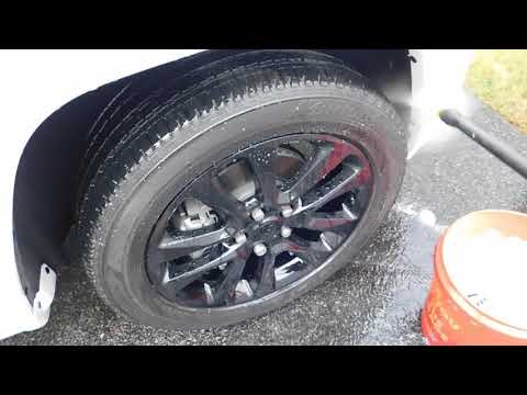 CLEANING BLACK WHEELS WITH IRON REMOVER AND BDP TOUCHLESS BRAKE DUST RELEASER