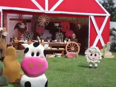 Decoracion para fiestas granja fiestas infantiles granja - Decoracion fiesta infantil ...