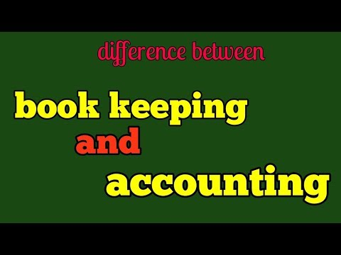 Book keeping vs accounting, easy way