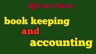 Book keeping vs accounting, easy way