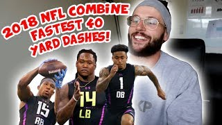 Rugby Player Reacts to Top 10 Fastest Athletes of The 2018 NFL Scouting Combine!