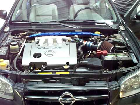 2002 Nissan Maxima Custom Intake Rev Youtube