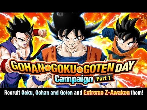 News Gohan Goku Goten Day Campaign Details Global Dragon Ball Z Dokkan Battle Youtube