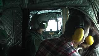 20161年10月15日の築城基地でのチヌーク体験飛行の記録です。