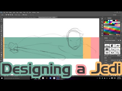 🔴 Designing a Jedi: Watch Me Design My YouTube Channel Art Live