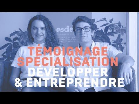 Témoignage - Spécialisation Développer et Entreprendre
