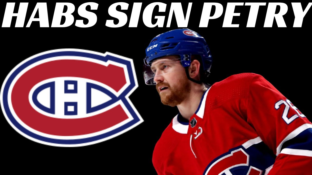 Montreal Canadiens Sign Jeff Petry Youtube