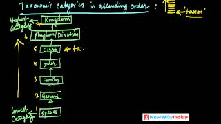 CBSE Class 11 - Biology Lessons - 007 - Taxonomic Categories Part 01