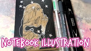 Notebook Illustration ★ Sternentaler ★ Fairytale