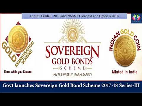 Sovereign Gold Bond Scheme explained for RBI and NABARD 2018