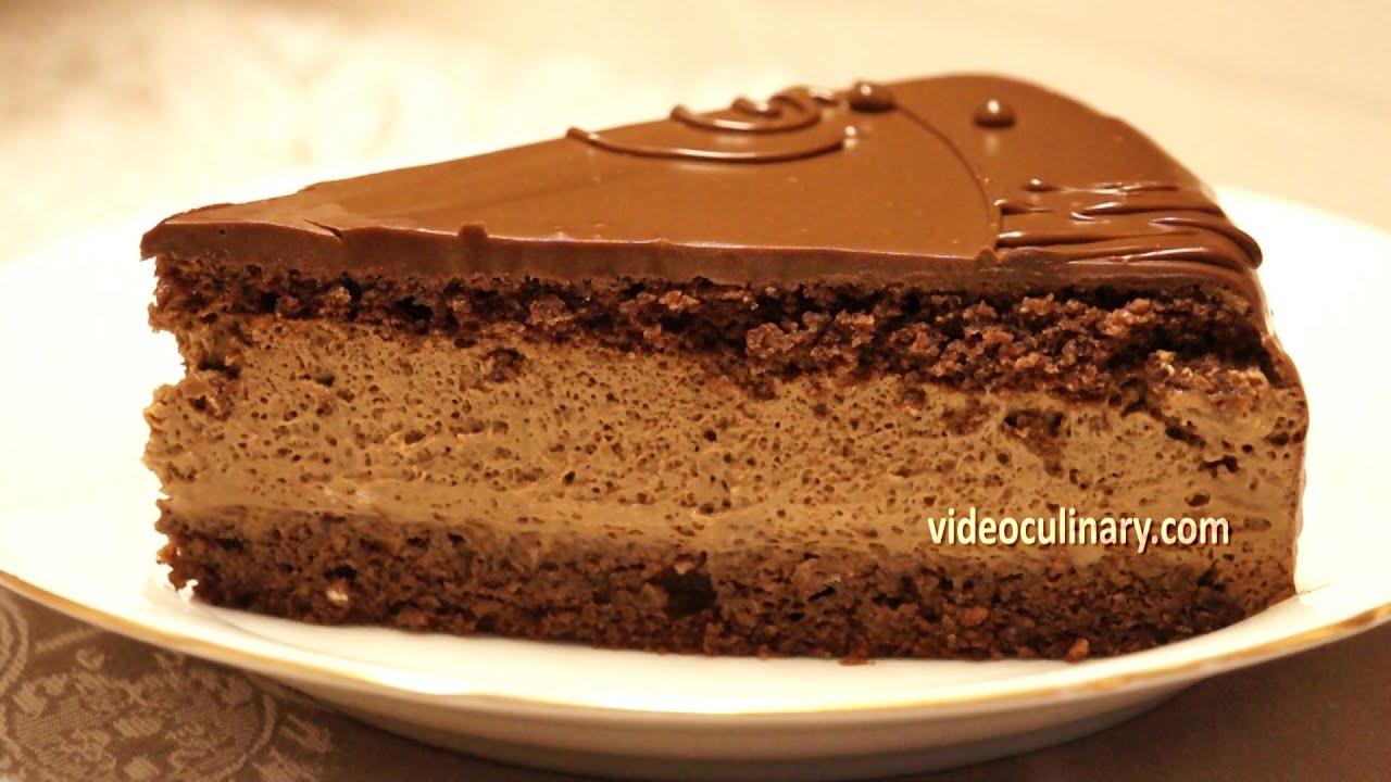 Chocolate Mousse Cake Recipe  Daniella Torte  YouTube