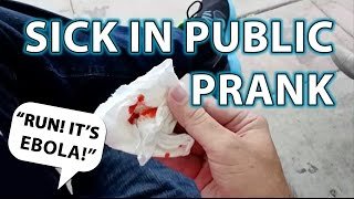 EBOLA PRANK / Public Sick Person Social Experiment