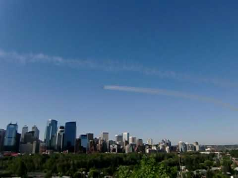 Snowbirds jets over Calgary