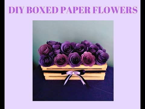 How to make a Boxed Flower Planter Centerpieces /  Cheap & Easy DIY Party Decoration / Purple Theme