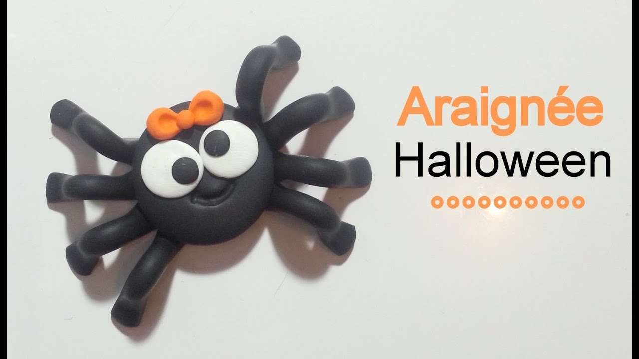 tuto fimo l 39 araign e halloween youtube. Black Bedroom Furniture Sets. Home Design Ideas