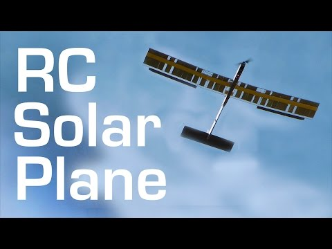 SOLAR Powered RC FPV Plane Build and Maiden - RCTESTFLIGHT -