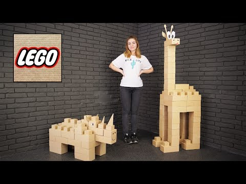 DIY Giant Lego Block Cardboard Figures