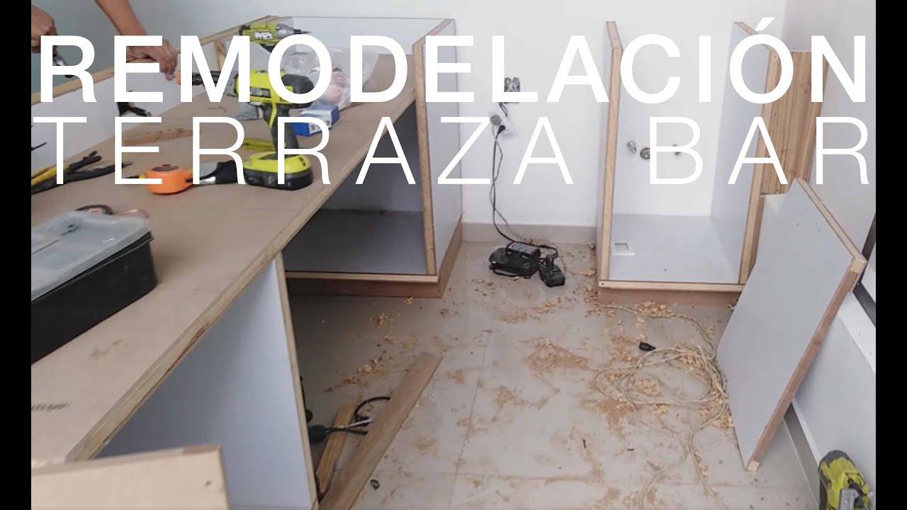 En Obra Instalación De Barra Remodelación Terraza Bar
