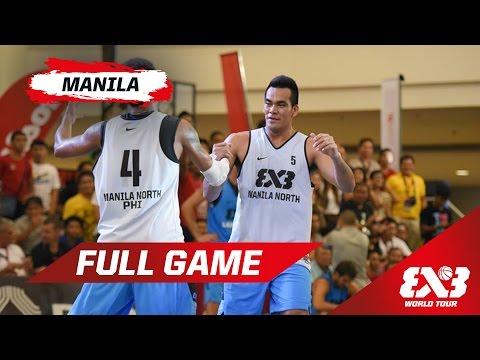 Manila North (PHI) vs Kobe (JPN) - Quarter Final - Full Game - Manila - 2015 FIBA 3x3 World Tour3x3