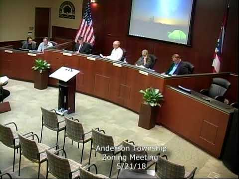 Anderson Township Zoning Meeting 5/21/18