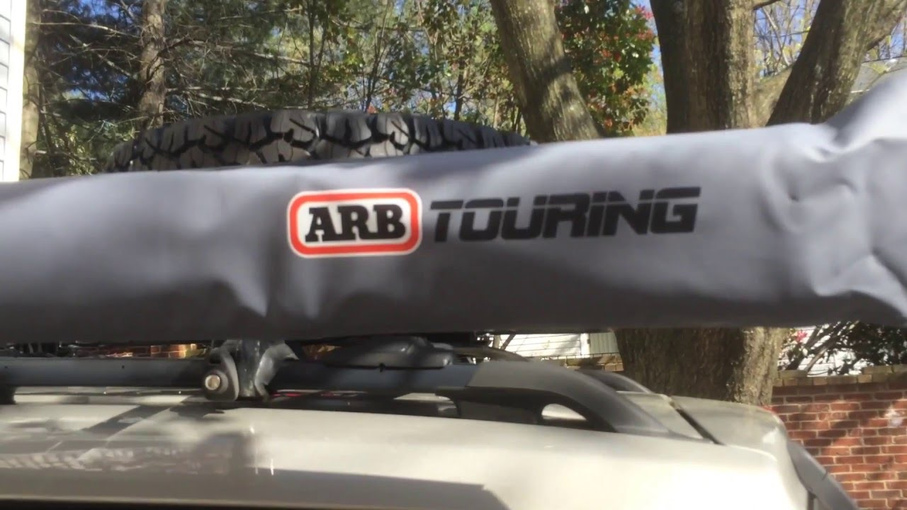 Yakima Roof Racks >> ARB Awning on Yakima Crossbars - YouTube