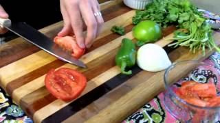 Fresh Pico De Gallo Salsa Recipe  Easy...only 5 Ingredients