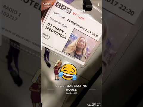watch Dj Cuppy and Dj Spinall At BBC Broadcasting House for Album Promotion