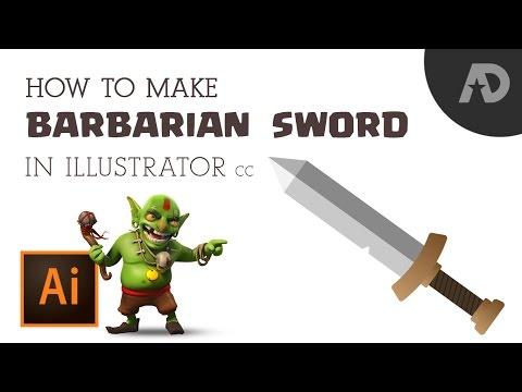 How to Make Barbarian Sword in Illustrator in 5min
