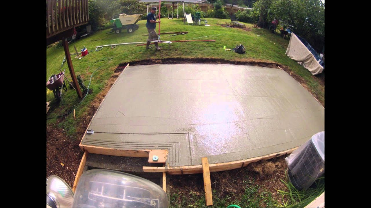 Good Concrete Patio 12u0027x20u0027   YouTube