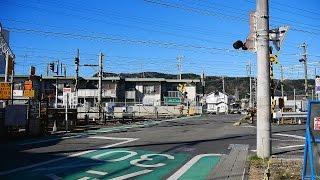 身延線【No.79】中里踏切・通過・走行映像 静岡県富士宮市(JR東海・旅客 鉄道 路線・列車)