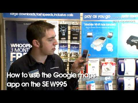How to use the Google maps app on the Sony Ericsson W995 mobile phone