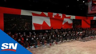 Toronto Raptors And Los Angeles <b>Lakers</b> Kneel During Canadian ...