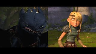 How To Train Y๐ur Dragon - Astrid Meets Toothless