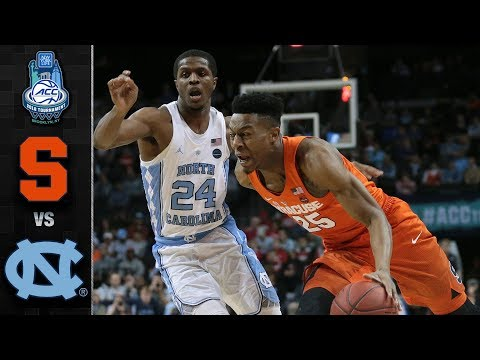 Syracuse vs. North Carolina ACC Basketball Tournament Highlights (2018)