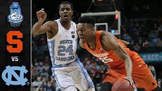 Syracuse vs. North Carolina ACC Basketball Tournament Highlights (2018)