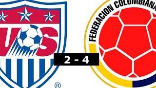 Estados unidos vs Colombia 2 - 4 Resumen!