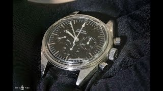 This is the last watch that walked on the moon, in my hand! The Omega Speedmaster ref ST105.003