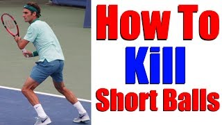 Tennis Lessons | How To Kill Short Balls(http://www.top-tennis-training.com/ Free Tennis Lessons | How To Kill Short Balls In this video, coaches Simon and Alex demonstrate a reaction drill to help you ..., 2015-05-16T19:39:40.000Z)