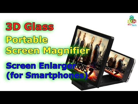 3D Glass Portable Screen Magnifier Enlarge...