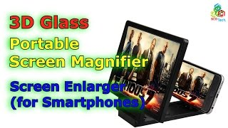3d glass portable screen magnifier enlarge foldable stand holder
