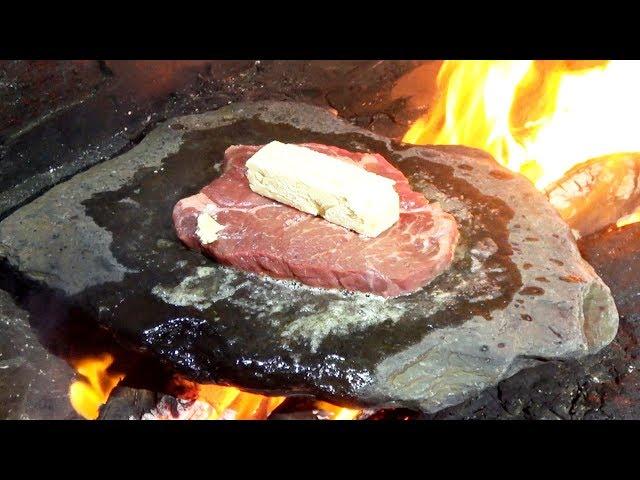 人生初のアウトドア石焼ステーキがうますぎた![金さんサバイバル24 #4]