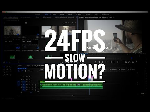 How to do 24fps Slow Motion (Tutorial)