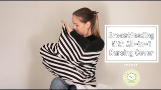 All-in-1 Nursing Cover, Car Seat Canopy, High Chair Cover, Stroller Cover By KeaBabies