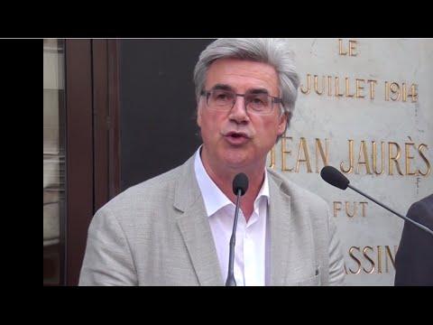 L'hommage de Patrick Le Hyaric à Jean Jaurès