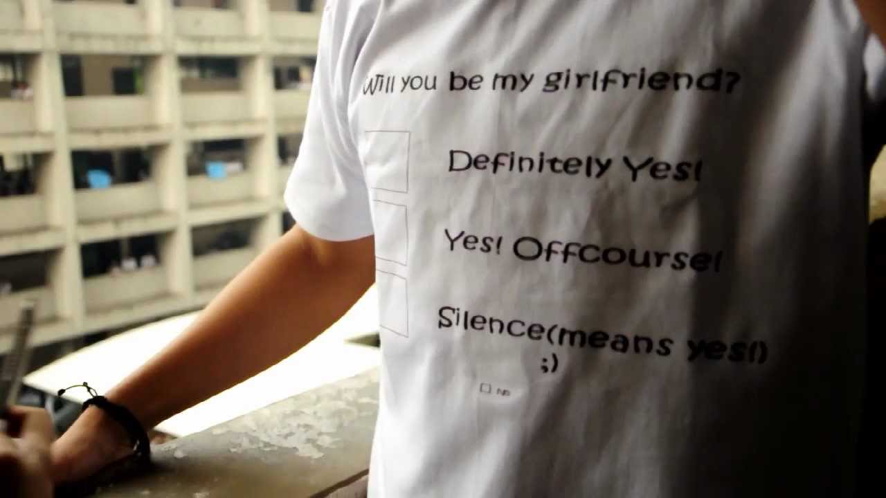 will you be my girlfriend proposal