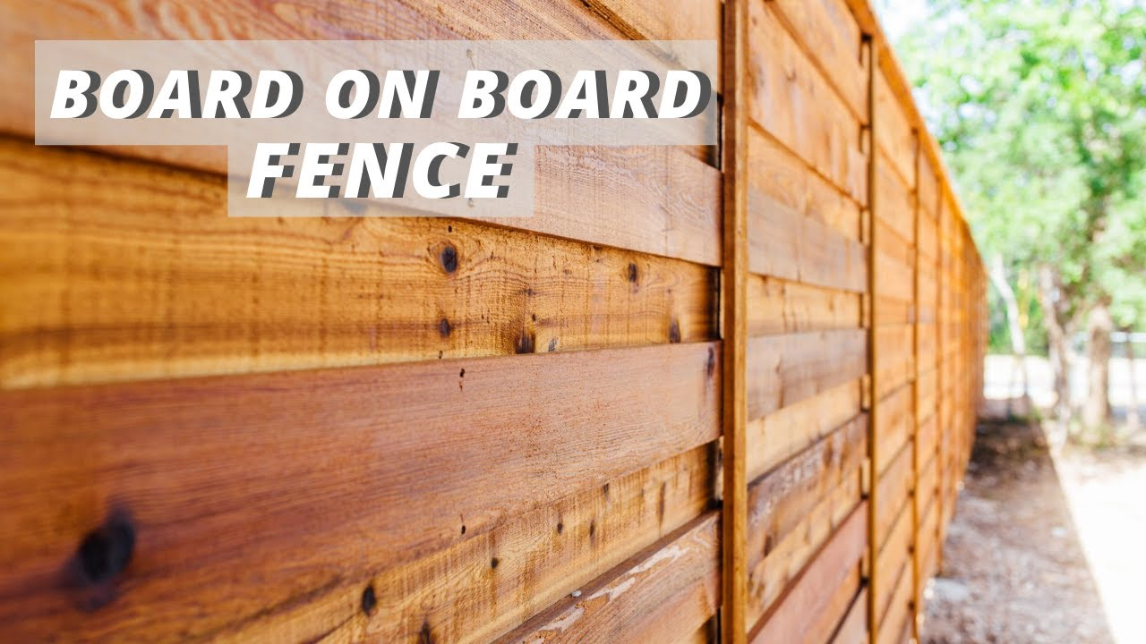 Horizontal Board on Board Fence | Pickets and Trim
