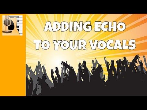 How to echo your voice in garageband