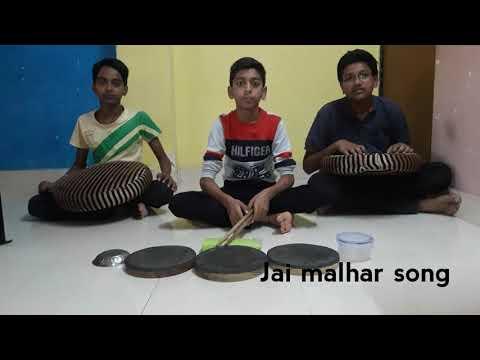 Jai Malhar song in home made drum set