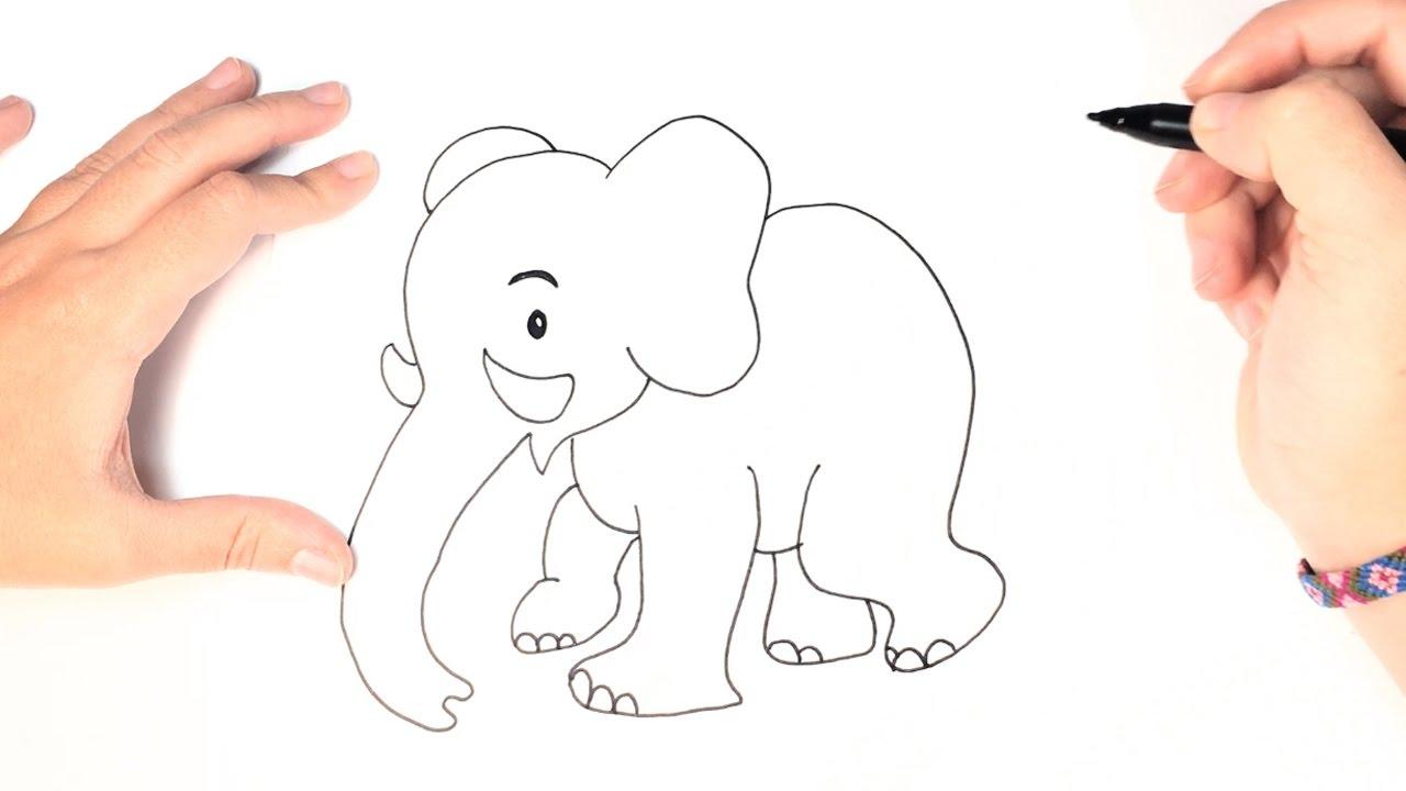 Cómo Dibujar Un Elefante Para Niños