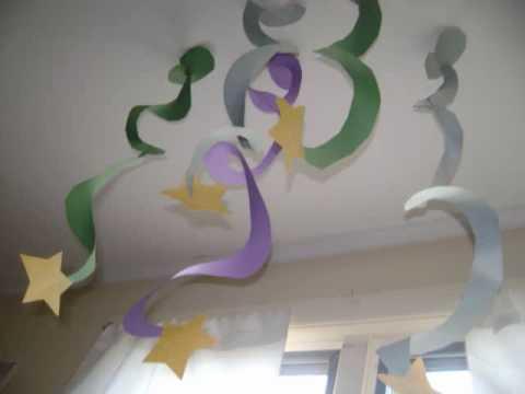 Espiral con estrella para decorar el cuarto de sus hijos - Como decorar el salon en navidad ...